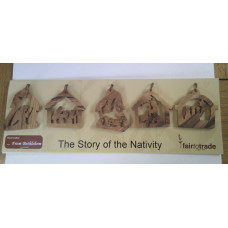 Story of the Nativity Olive Wood Decorations
