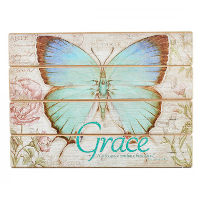 Grace Butterfly Wall Plaque