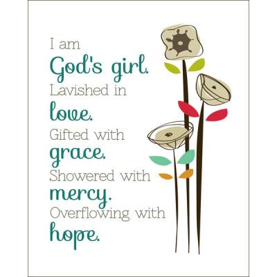 God's Girl Unframed Print