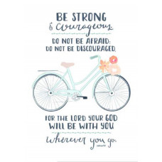 Unframed Print: Be Strong (Bicycle)