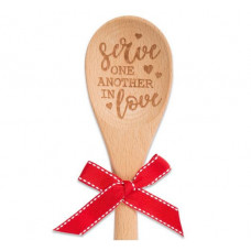 Wooden Sentiment Spoon - Serve One Another