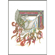 Wild Goose - Lindisfarne Scriptorium A4 Print - Unframed
