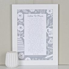 Letter to Mum Print