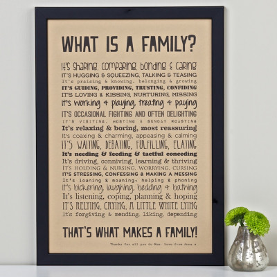What is a Family? Print Unframed