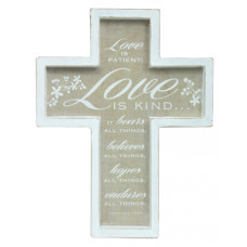 Framed Wooden Cross - Love is Patient