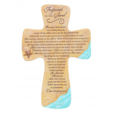 Footprints Ceramic Wall Cross