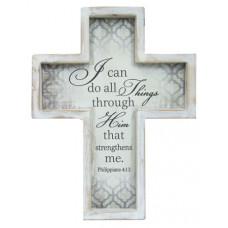 Framed Wooden Cross - I Can Do All Things