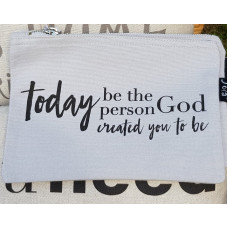 Today Be The Person Make Up Bag