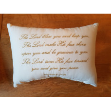 Embroidered Cushion - The Lord Bless You