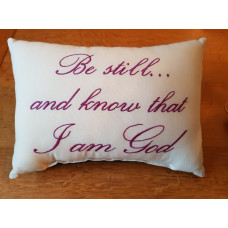 Embroidered Cushion - Be Still