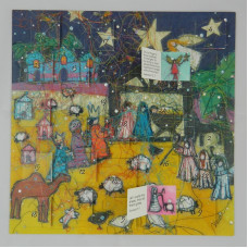 Advent Calendar Card Nativity Night