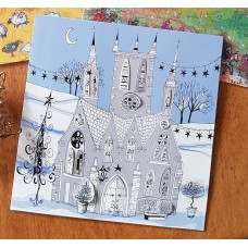 Advent Calendar Card - Snowy Church