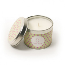 Fig and Wild Pear Dotty Hearts Tinned Candle