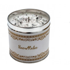 Snowflake Tinned Candle