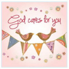 Pack of Four Notecards - God Cares For You