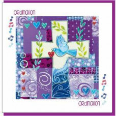 Ordination Card Purple Cross