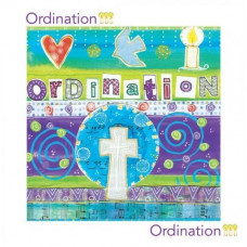 Colourful Ordination Card