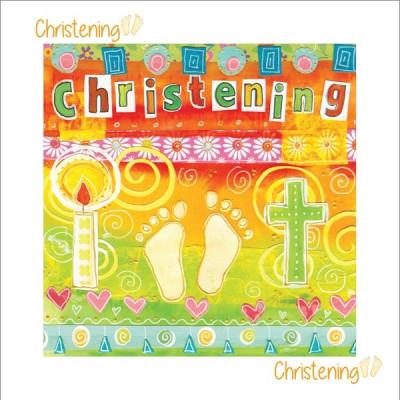 Christening Card Feet