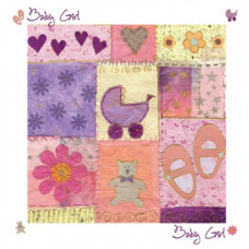 New Baby Girl Greetings Card