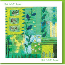 Get Well Soon Green Fern Card
