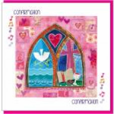 Confirmation Card - Pink Church Window