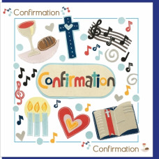 Confirmation Card Musical Notes