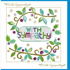With Sympathy Vine Card - With Bible Verse
