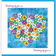 Thinking Of You Card Heart Of Flowers