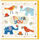 Thank You Card with Elephants