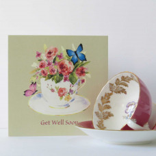Get Well Soon Teacup Card