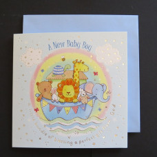 New Baby Boy Ark Card