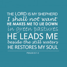 Verse Card The Lord Is My Shepherd