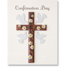 Confirmation Dove and Cross Card