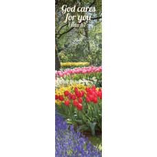 Bookmark God Cares For You Tulips