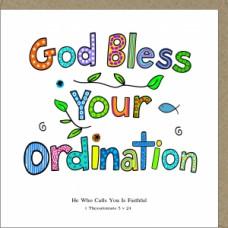 God Bless Your Ordination Card