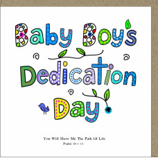 Baby Boy's Dedication Day Card Colourful