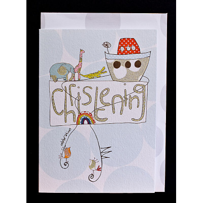 Christening Card Ark Blue