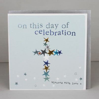 Day of Celebration Card with Cross