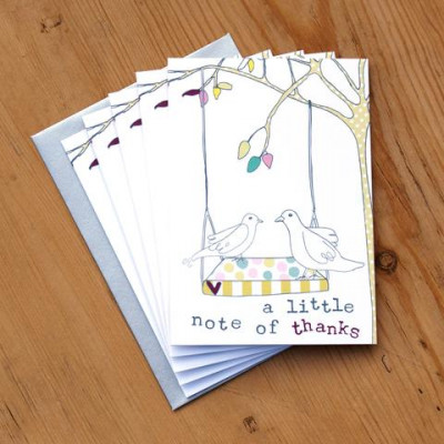 A Little Note Of Thanks Pack Of 5 Cards