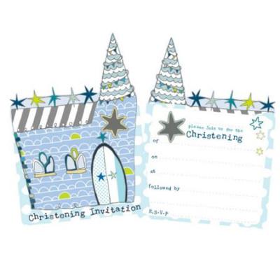 Christening Invitation Pack Blue