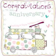 Anniversary Congratulations Camper Van