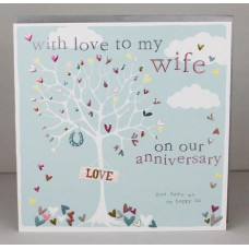 Happy Anniversary Wife Card