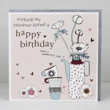 Fabulous Friend Happy Birthday Card