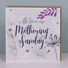 With Love On Mothering Sunday Card Purple