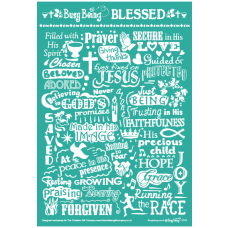 Busy Being Blessed Greetings Card