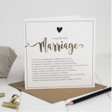 Recipe For Marriage Greetings Card
