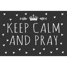 Postcard - Keep Calm and Pray