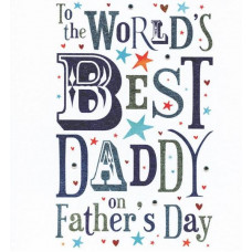 World's Best Daddy on Father's Day Card