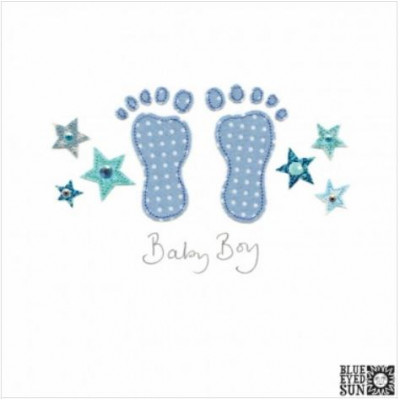 Baby Feet Card Blue Or Pink