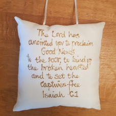 The Lord Has Anointed You Square Hanging Pillow
